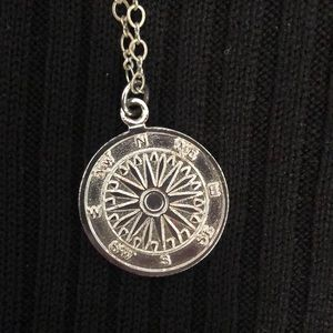 Compass pendent necklace